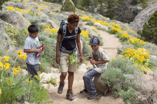 NOLs Alum hiking with kids by Brad Christensen