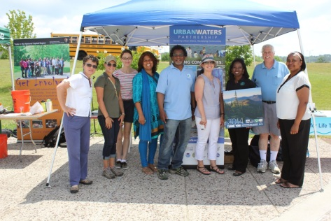 Urban Waters Federal Partnership team at OAK youth event in June.