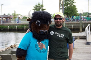 Huge thanks to Chad Dayton (here with our friend Buddy Bison) and his team from wilderness Inquiry for organizing such a fantastic event!