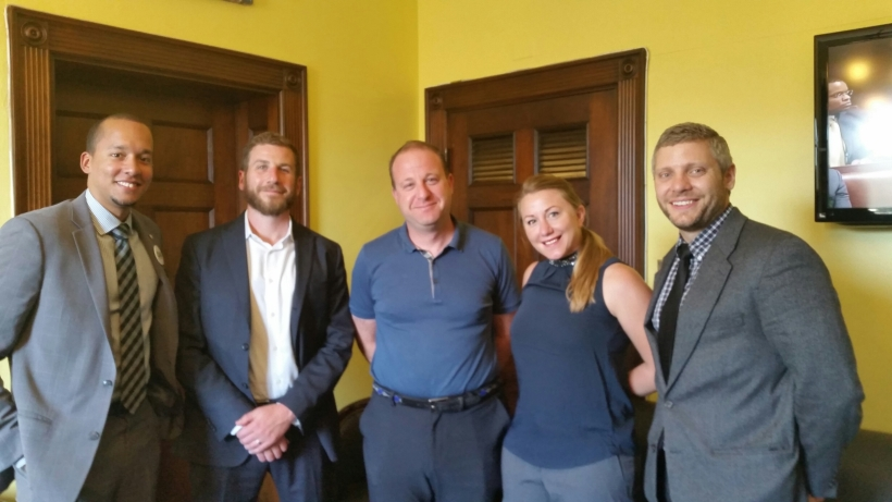 OAK members meeting with Colorado Congressman Jared Polis during annual advocacy day.