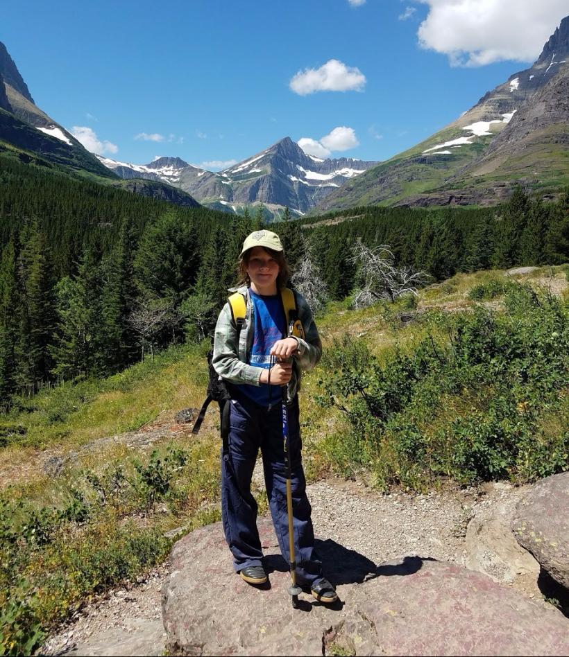 Noam Hiking in Glacier National Park